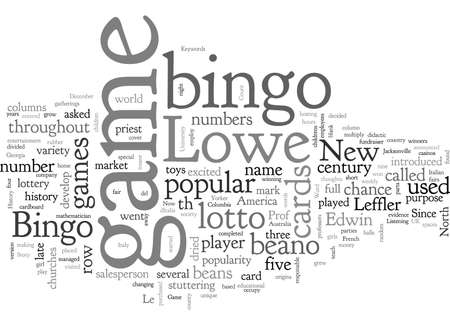 Bingo History Story of the Game Bingo