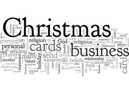 Business Christmas Cards Vektoros illusztráció
