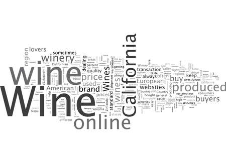 Buy California Wine Banco de Imagens - 132215575