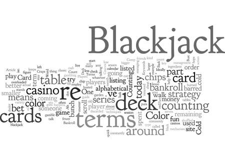 Blackjack Terms Part One