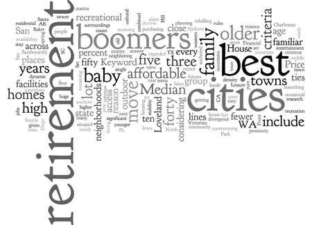 Meilleures villes de retraite Vecteurs