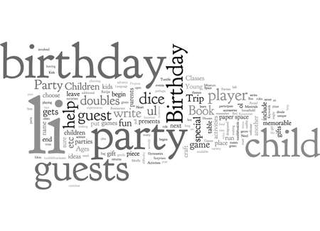 Birthday Party Ideas for Children Ages Vectores