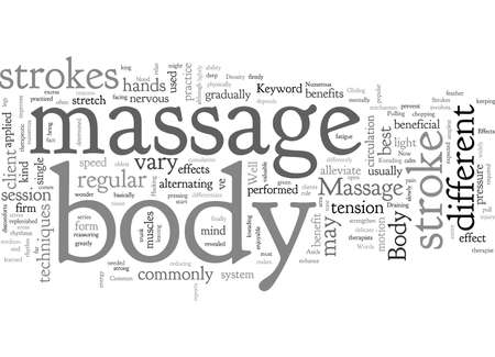 Body Massage  イラスト・ベクター素材