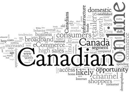 Canada and eCommerce Ilustração Vetorial