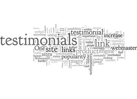 Better Link Popularity Through Testimonials