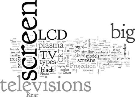 big screen televisions Banco de Imagens - 132215845