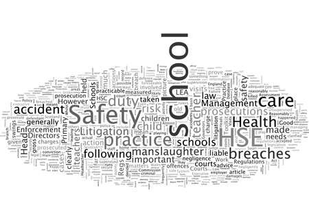 Incidentes de seguridad de las escuelas británicas y los tribunales Ilustración de vector