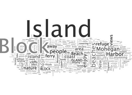 Block Island Memorable Vacations in a Secluded Hideaway Stock Illustratie