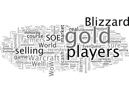 Blizzard and World of Warcraft Gold Sellers 일러스트
