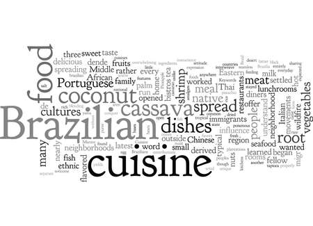 Brazilian Cuisine  イラスト・ベクター素材