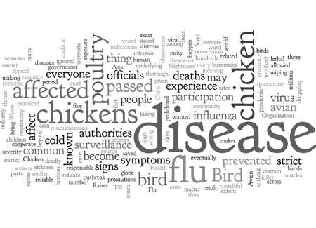 Bird Flu A Chicken Raisers Nightmare  イラスト・ベクター素材