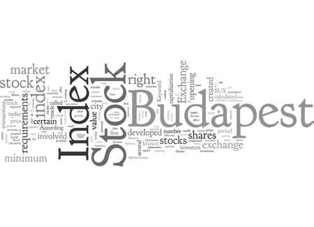 Budapest Stock Index Illustration