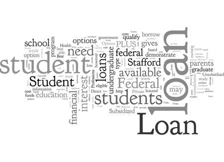 Best Student Loan Options Banco de Imagens - 132215995