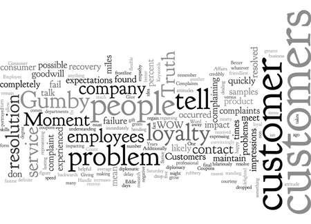 Better Ways to Handle Complaints Stock Illustratie