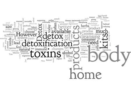 body detox home kit  イラスト・ベクター素材