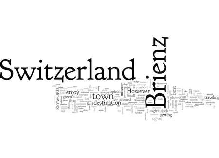Brienz Zwitserland Vector Illustratie