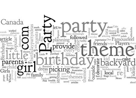 Birthday Party Themes That Put Little Girls Centre Stage Illustration