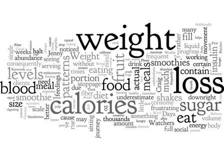 Te vermijden blunders tijdens uw reis naar gewichtsverlies Vector Illustratie