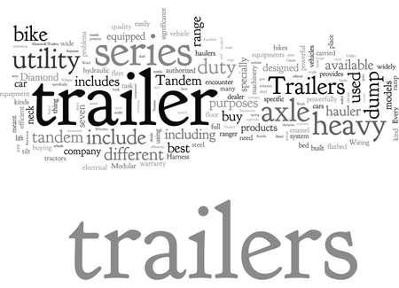 bike trailer car hauler dump trailers tandem axle trailer utility trailer Ilustración de vector
