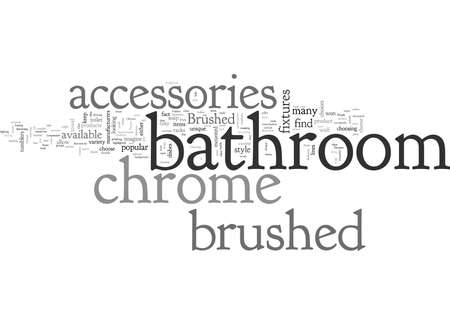brushed chrome bathroom accessories Ilustrace