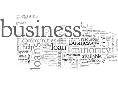Business Loans For Minorities Info And Helpful Sites Banco de Imagens - 132216080