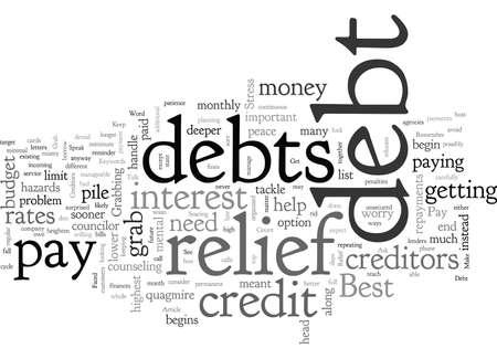 Die besten Möglichkeiten zum Schuldenerlass Vektorgrafik
