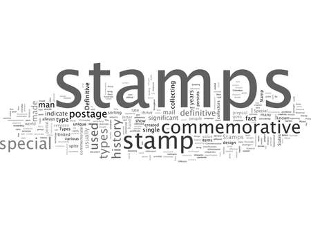 BWS what are the different types of stamps Vector Illustration