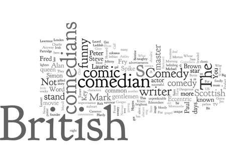 comediantes británicos Ilustración de vector