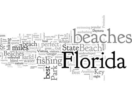 Best Beaches in Florida 矢量图像