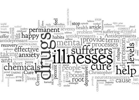 Can Antidepressants Ever Cure You Vektoros illusztráció