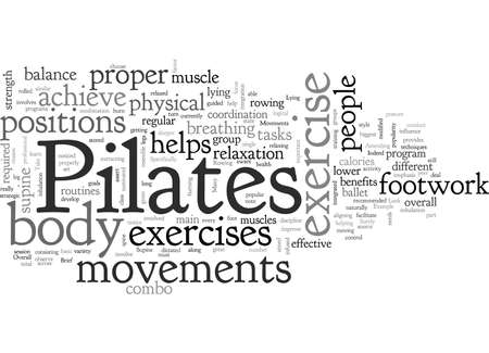brief look at pilates movements Ilustração