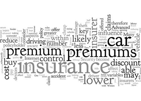 Car Insurance How can you lower your premiums