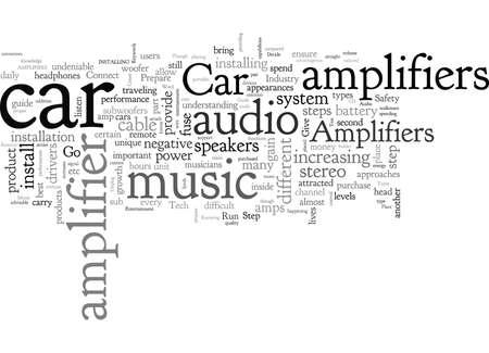 Car Amplifiers Music Entertainment On The Go Go Go Ilustração