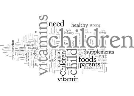 Children s Vitamins Иллюстрация