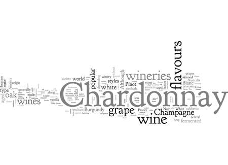 Chardonnay an eminent white wine Illustration