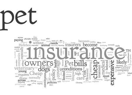 Cheap Pet Insurance Is A No No Vektoros illusztráció