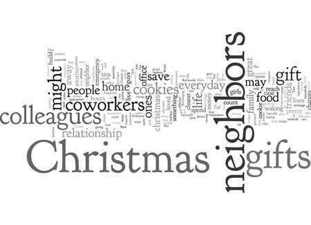 Regali di Natale per colleghi e vicini Vettoriali