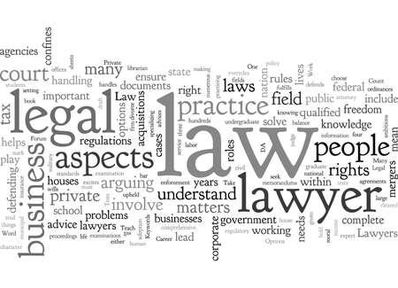 Opciones de carrera en derecho Ilustración de vector