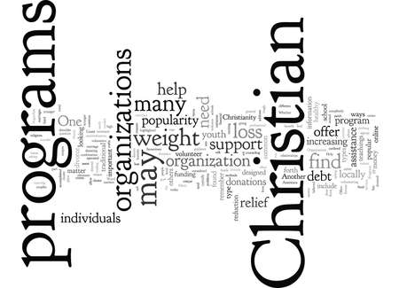 Christliche Organisationen und Programme, wie sie Bedürftigen helfen können Vektorgrafik
