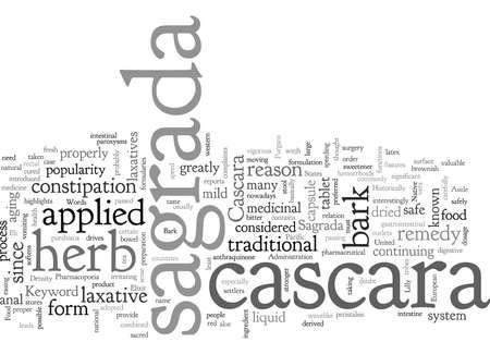 Cascara sagrada  イラスト・ベクター素材