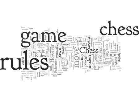 Chess Rules Then and Now Иллюстрация