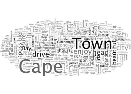 Cape Town In Hours Иллюстрация