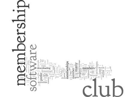 Inquietudes sobre el software de membresía del club a tener en cuenta Ilustración de vector
