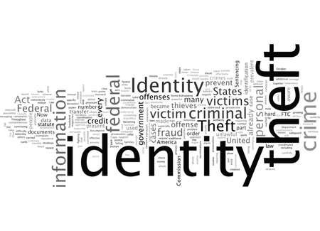 case law identity theft Stock Illustratie