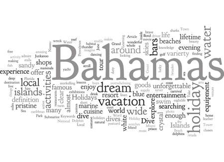 Cheap Bahamas Holidays Illustration