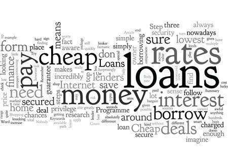 Cheap Loans Иллюстрация