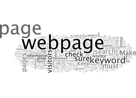 Merkmale einer großartigen Webseite Vektorgrafik