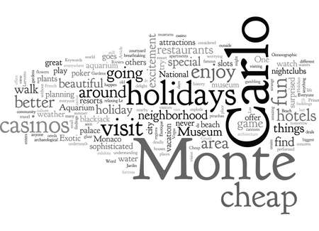 Cheap Holidays To The Monte Carlo