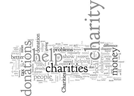 Charities Donations Solve Problems Иллюстрация