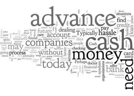Cash Advance Money When You Need It